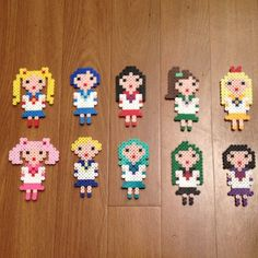 Sailor Moon  magnets perler beads by songbirdbeauty1