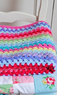 A granny stripe blanket is a good one to start with if you are new to crochet!!    Kerry