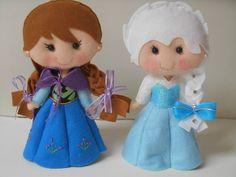 ANA e ELSA, princesas (frozen) são duas bonecas confeccionadas inteiramente em feltro de ótima qualidade, o que as fazem ter graça e leveza, para servirem de elementos decorativos no quarto do seu bebê, ou para presentear alguém muito especial !!!