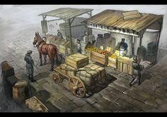 Fruit Stall by demon755 - Dmitry Sorokin - CGHUB via PinCG.com