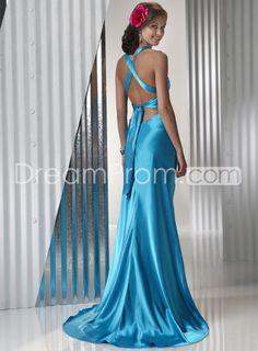 Glamorous+Mermaid+V-neck+Sleeveless+Floor-length+Prom+Dresses+P4403S