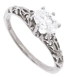 engagement ring - I love the band on this...