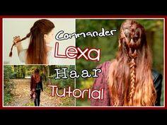 COMMANDER LEXA HAAR TUTORIAL | The 100 mit alwaysxcaro - YouTube