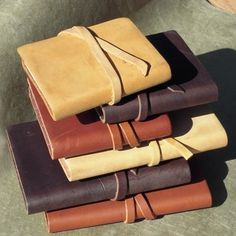 Adorable little leather journals.