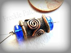 Bali Style Copper Tube Bead  Handmade by Anna by FrecklePatchGlass, $9.50