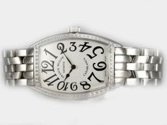 Franck Muller Watch Casablanca Automatic Diamond Bezel with White Dial