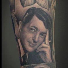 Dean Martin portrait by Tim Hendricks.