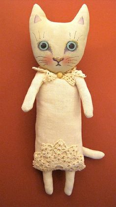 ooak cat art doll | Flickr - Photo Sharing!