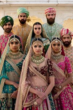 Sabyasachi Spring Couture The Udaipur Collection; I love Sabyasachi! He does amazing work and his pieces are beautiful. Indian Bridal Wear, Pakistani Bridal, Indian Wear, Bridal Lehenga, Indian Dresses, Indian Outfits, Indian Skirt, Ethnic Fashion, Indian Fashion