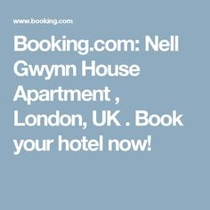 Booking.com: Nell Gwynn House Apartment , London, UK . Book your hotel now!