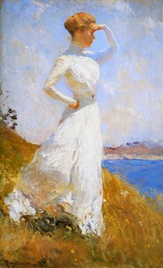 Sunlight, 1909, Frank Weston Benson. American Impressionist Painter, (1862-1951)