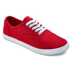 Women's Lunea Canvas Sneakers - Red 10