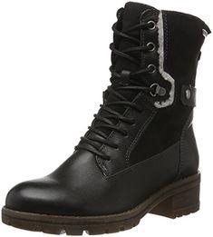 25100, Bottes Rangers Femme, Noir (Black), 41 EUTamaris