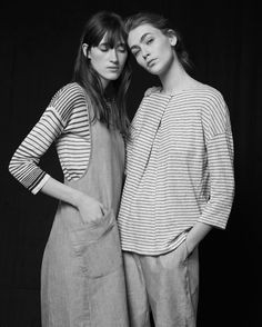 Chic Stripes - striped tops & lightweight linens; b&w striped fashion // Toast SS15