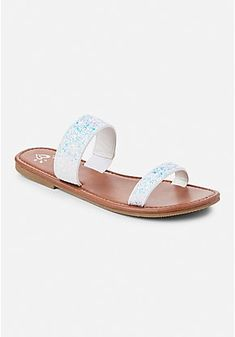 Justice is your one-stop-shop for on-trend styles in tween girls clothing & accessories. Shop our Glitter Two Strap Sandal. Girls Sandals, Girls Shoes, Girls Cover Up, Two Strap Sandals, Buy Gift Cards, Girls Summer Outfits, Studded Belt, Little Fashionista, Tween Girls