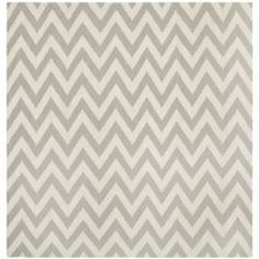 Safavieh Hand-woven Moroccan Dhurrie Chevron Grey/ Ivory Wool Rug (6' Square) - KITCHEN RUG OPTION, 6' SQUARE, $143.84