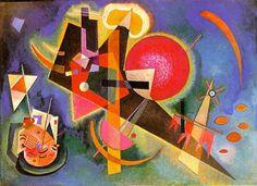 In Blue, huile sur toile de Wassily Kandinsky (1866-1944, Russia)
