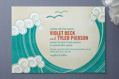 cool design!  (maybe Amanda or Kait could help draw the design and we could just make copies or something...)  http://theoceansidebride.com/wp-content/uploads/2011/03/Minted_BlockPrintWavesWeddingInvitations.jpg