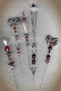 victorian hat pins -- . In 1909 a bill was introduced in the Arkansas legislature which copied an Illinois law limiting the length of pins to 9 inches or making ladies take out permits to possess longer ones. The pins were considered deadly weapons. As a result ladies had to cut their pins to the shorter length if they wanted to wear them in public. (American Hatpin Society)