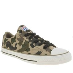 Converse Khaki Star Player Camo Graphic Mens Luckily, camo-printed shoes wont make you blend into the crowd in an urban setting