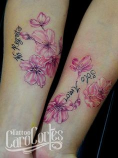 Sakura - Flor de cerezo Caro cortes Colombian tattoo artist. carocortes.tumblr... www.carocortes.com/  #Sakura #Flor #flordecerezo #tattoo #Sakuratattoo #flower #flowertattoo tatuaje #carocortes #carocortes.com #tattoocarocortes #colombian #tattooartist