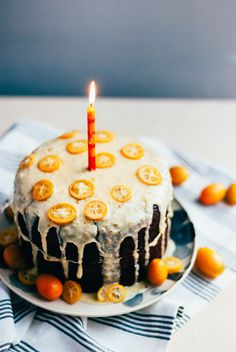 Chocolate Layer Cake with Kumquat Glaze via Brooklyn Supper #recipe