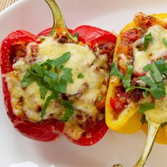 Stuffed Chicken Peppers Recipe from Grandmother's Kitchen