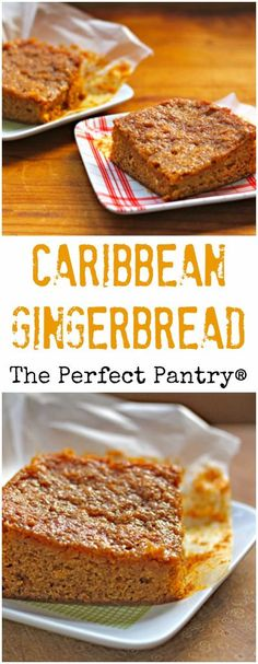 Caribbean gingerbread, packed with spices and chewy goodness! Caribbean gingerbread, packed with spices and chewy goodness! Carribean Food, Caribbean Recipes, Carribean Desserts, Puerto Rico, Trini Food, Jamaican Recipes, Jamaican Desserts, Island Food, Sweet Bread