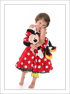 Handcrocheted MINNIE TWIRL sundress mouse set by BlueBottleDesigns, $86.00