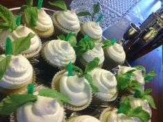 Mint Julep Cupcakes from Booze, Sugar & Spice
