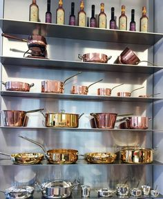 Professional cookware from Baldassare Agnelli USA on display in their New York City Showroom just down the street from Little M Tucker on 5th Avenue.
