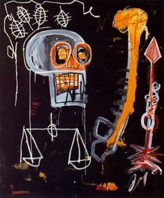"mindsigh:    Jean Michel Basquiat, ""Black Skull,"" 1982"