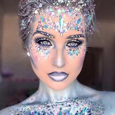 """3,670 Likes, 37 Comments - THE GYPSY SHRINE (@thegypsyshrine) on Instagram: """"❌NEW MISFIT FOUND❌ … ❄How amazing is @cheyniem found in our SNOW QUEEN face + chest piece…"""""""