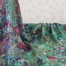 Sprzedawane Przez Miernik Retro Kwiat Suknia Jedwabna Tkanina Jedwabna Szyfon Żorżety(China) Outdoor Blanket, Retro, Painting, Painting Art, Paintings, Mid Century