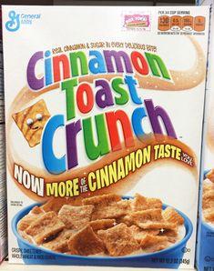 MORE cinnamon in Cinnamon Toast Crunch? Toaster Strudel packed with more fruit? Tasty changes are here! Vegan Junk Food, Vegan Snacks, Gourmet Recipes, Vegan Recipes, Snack Recipes, Real Cinnamon, Crunch Cereal, Cinnamon Toast Crunch, Cereal Recipes
