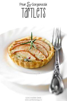 Mini-tarte cu pere și gorgonzola