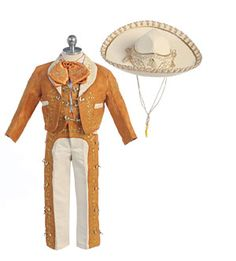 Boys Suit Style MARIACHI- GOLD Boys Mariachi Suit with Matching Sombrero  Whether it is a birthday presentation, wedding, quinceanera, or any other special event, this adorable mariachi outfit is sure to turn heads. Outfit comes with a matching sombrero. Suit comes exactly as pictured.  http://www.flowergirldressforless.com/mm5/merchant.mvc?Screen=PROD&Product_Code=BK_CH927&Store_Code=Flower-Girl&Category_Code=Gold