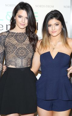 Kendall and Kylie Jenner at their Madden Girl Shoe and Handbag Launch. #KendallKylieMaddenGirl #SteveMadden #shoes