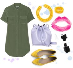 She's Always Talking by marinasays on Polyvore featuring Equipment, Rachael Ruddick and Topshop