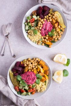 Moroccan Bowl - Heavenlynn Healthy - Moroccan bowl – purely vegetable, vegan, gluten-free, without refined sugar – de. Food Bowl, Spiced Pecans, Ceviche, Roasted Vegetables, Food Inspiration, Vegan Recipes, Spices, Easy Meals, Food And Drink