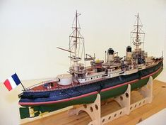French battleship Iéna 1896 1:200 cardboard model