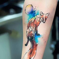Pin for Later: 26 Nostalgic The Little Prince Tattoos That You Need Right Now The Fox and Planet