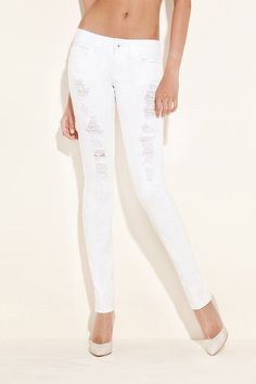 I've found some cool women's denim at Guess today! And my favorite is the DAREDEVIL SKINNY JEANS - ICE STORM SUPER DESTROY. This low-rise skinny provides an overall slim fit from hip to ankle. The wide waistband sits low on the hip, giving you an easy-to-wear silhouette that works for every season. Destroyed detail gives these jeans a carefree, worn-in look. No wonder Guess is one of the leading fashion brand nowadays.   http://shop.guess.com/Catalog/Browse/Women/Denim/