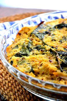 Baked Spinach Quinoa Pie Recipe | Baked Quinoa | Gluten Free Recipes - The Healthy Apple