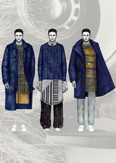 ACNE Menswear Design Project  Menswear range developed with focus towards washed…