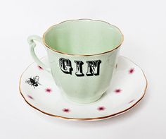 Gin in a Teacup by yvonneellen on Etsy. I don't like gin, but I like this.