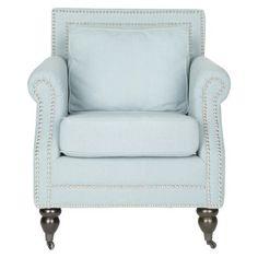I  love the nailhead trim!!! - Safavieh Salt Springs Club Chair - Blue - via Target