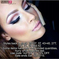 Model 21 Eyelashes sale till Sat.  Go to http://Model21Eyelashes.com