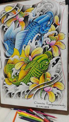 hugo bmth tattoo, koi fish tattoo e oriental tatto Tribal Scorpion Tattoo, Tribal Lion Tattoo, Tribal Shoulder Tattoos, Japanese Flower Tattoo, Hawaiian Flower Tattoos, Japanese Tattoo Designs, Lower Hip Tattoos, Hip Tattoo Small, Tribal Dragon