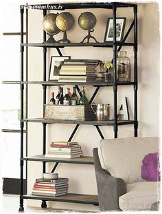 Hyllis Ikea Hack – DIY… | Skreytumhús.is Really nice look for maybe Office